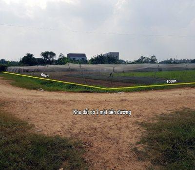 Bán khu đất 5082m2  có 2 mặt tiền đường xã Tân Phú Trung, H.Củ Chi