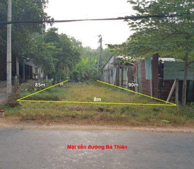 Bán đất mặt tiền đường Bà Thiên xã Nhuận Đức, H.Củ Chi, TPHCM – DT: 664m2; Giá: 1,9 tỉ.