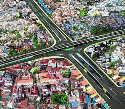 Nút giao thông An Sương kết nối huyện Củ Chi với trung tâm TP.HCM hiện nay - Ảnh :Mua Đất Củ Chi